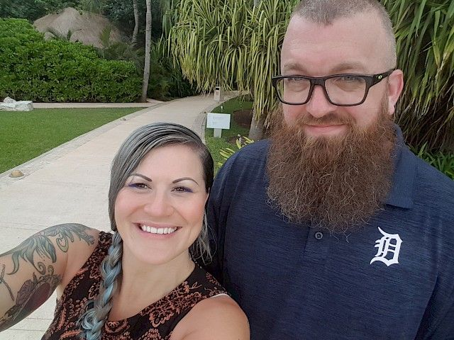 My beautiful wife, Kristan and I in Cancun (Spring Break - March 2018)